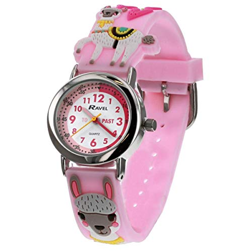 Ravel Children's 3D Pink Llama Kid's Girl's Time Teacher Watch