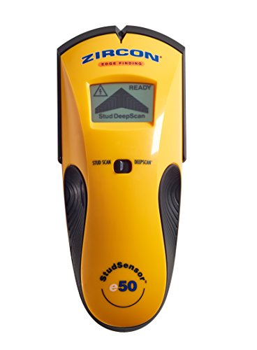 Zircon StudSensor e50 Electronic Wall Scanner / Edge Finding Stud Finder / Live AC WireWarning Detection