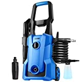 Pressure Washer, TEANDE 3000PSI Electric Pressure Washer 2.4GPM Power Washer 1600W High Pressure Cleaner Machine with 4 Nozzles Foam Cannon,Best for Cleaning Homes, Cars, Driveways, Patios TN017