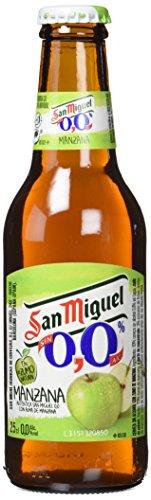 San Miguel Cerveza Manzana Sin Alcohol - Paquete de 24 x 250 ml - Total: 6000 ml