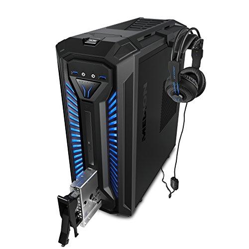 MEDION X30 RGB - Ordenador de sobremesa gaming (Intel Core i5-9400, 8GB RAM, 1TB HDD + 256GB SSD, Nvidia GTX1050Ti-4GB, Windows 10) Negro