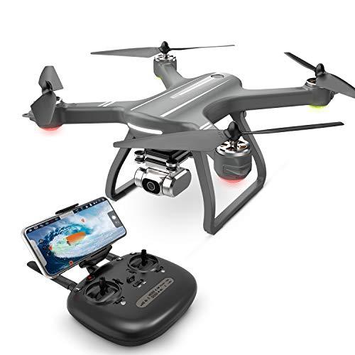 Eanling FPV Drone HS700D con videocamera HD 2K Live Video e GPS Return Home, Quadricottero RC per principianti con motore brushless, Seguimi