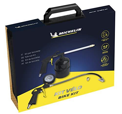 MICHELIN Kit Vélo MBL-GO (Inclus Pistolet de Gonflage, Pistolet de Nettoyage, Buse) - Compatible avec Compresseur Mural MBL-GO - Pression d'Utilisation : 4-8 bar