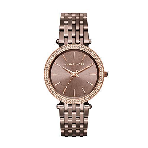 Michael Kors Damen Analog Quarz Uhr mit Edelstahl Armband MK3416