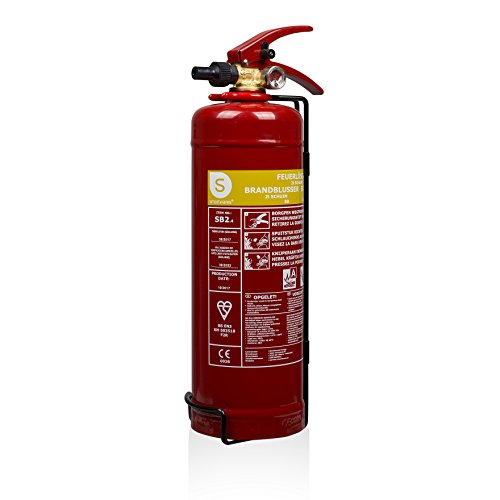 Smartwares SB2 Feuerlöscher/Schaumlöscher Brandklassen A und B (feste & flüssige Stoffe), DIN EN3 konform, 2 Liter Schaum