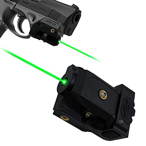 Lasercross Green Laser,Pistol Laser Sight Green Dot Tactical Sight Adjustable Low Profile Picatinny Rail with Rechargeable Battery for Pistols & Handguns