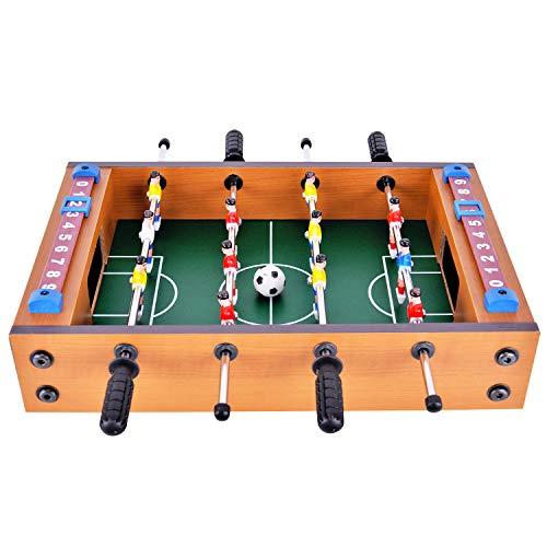 Tischkicker Tischfußball Mini Tischplatte Kickertisch Tisch Fußball Spiel Set für Kinder Spiel mit Ball und Spielstandsanzeige
