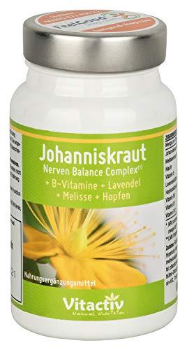 JOHANNISKRAUT Nerven Balance Complex hochdosierte Kapseln für Psyche, Nerven, Schlaf & Entspannung, 60 Stück
