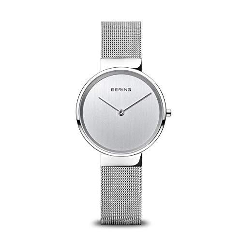 BERING Unisex-Armbanduhr Analog Quarz Uhr mit Edelstahl Armband 14531-000
