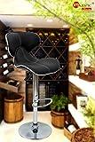 majestic™ Chromium steel triple star willy wonka high chair/bar stool black colour