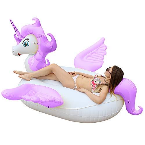 Giant Unicorn Pool Float, Big Inflatable...