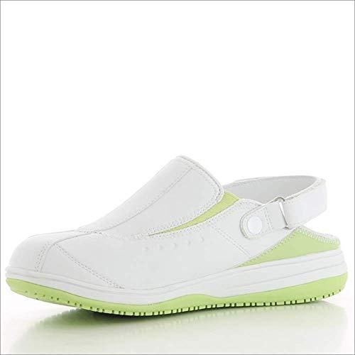Oxypas Iris, Zapatos de Seguridad Mujer, Blanco (Lgn), 38 EU (5 UK)