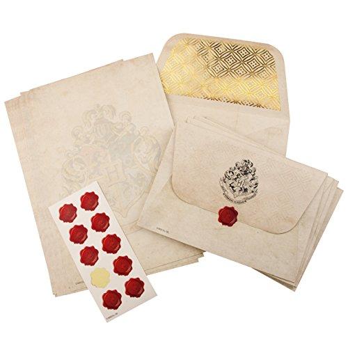 Harry Potter Hogwarts Briefpapier-Set, 20 Blatt A5-Notizpapier, 10 Briefumschläge mit Hogwarts...