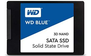 WD Blue 3D NAND 1TB Internal PC SSD - SATA III 6 Gb/s, 2.5'/7mm, Up to 560 MB/s - WDS100T2B0A
