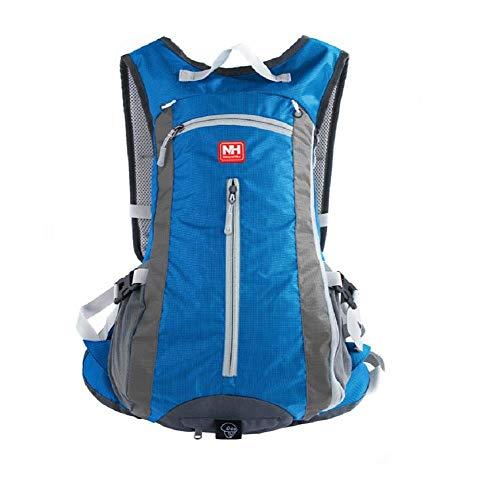 HYSENM zaini bicicletta leggera capacit 15L zaino impermeabile adatto alla corsa arrampicata alpinismo per accogliere casco, azzurro
