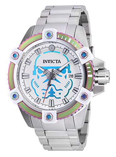 Invicta 26555 Star Wars - Stormtrooper Herren Uhr Edelstahl Automatik weißen Zifferblat