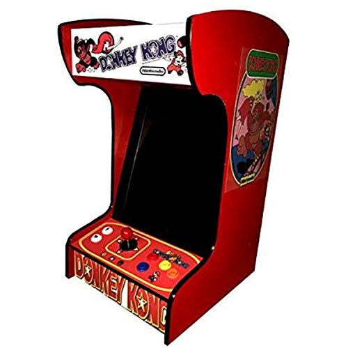 Doc-and-Pies-Arcade-Factory-Classic-Home-Arcade-Machine-Tabletop-and-Bartop-412-Retro-Games-Full-Size-LCD-Screen-Buttons-and-Joystick-Red