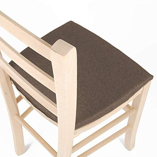 Arketicom MY KISSEN Cuscino sedie cucina QUADRATO per sedie e arredo cucina moderna sedie esterno. Coprisedia Quadrato