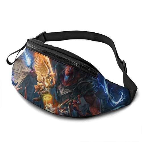 KANKANHAHA Waist Pathfinder Wrath of The Righteous 3D Digital Print Handtaschen Unisex Fashion Messenger Bag Sporttaschen