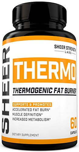 THERMO Fat Burner (60ct) - Thermogenic Weight Loss Supplement for Women & Men - Yohimbine, Green Tea Extract, More - Non-GMO Diet Pills - Sheer Strength Labs - Packaging May Vary 1