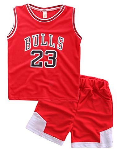 Odziezet Baby Kleidung Set Shirt Ärmlos + Shorts Junge Basketball Anzug 1-7 Jahre alt