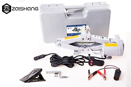 Baoyinengyuan Technology Co.,Ltd 12V Elektrischer Wagenheber Heber Scherenwagenheber 2 Tonnen Auto Scherenlift (Grey)