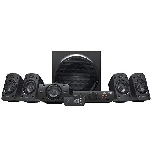 Logitech Z906 5.1 Sound System, Lautsprecher mit 1000 Watt Surround Sound, THX, Mehrere Audio-Eingänge, Fernbedienung, Multi-Device, PC/PS4/Xbox/Stereo-Anlage/TV/Smartphone/Tablet - EU-Stecker