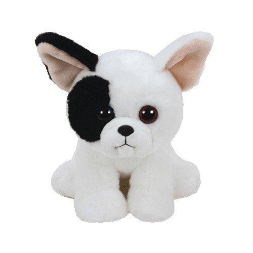 Ty 41203Marcel–Dog White/Black, 15cm, Beanie Babies