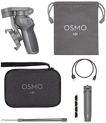 Dji Osmo Mobile 3 Combo Kit Stabilizzatore Gimbal a 3 Assi, Compatibile con iPhone e Smartphone Android, Design Leggero e Portatile, Riprese Stabili, Controllo Intelligente + Treppiede, Grigio