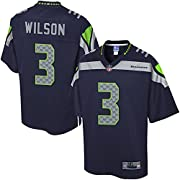 Engineered and constructed to replicate Russell Wilson's game day Pro-Cut jersey. Sizing Tip: Product runs true to size. For a looser fit, we recommend ordering one size larger than you normally wear. Printed Seattle Seahawks wordmarks (where applica...