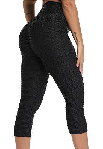 FITTOO Mallas 3/4 Leggings Mujer Pantalones de Yoga Alta...