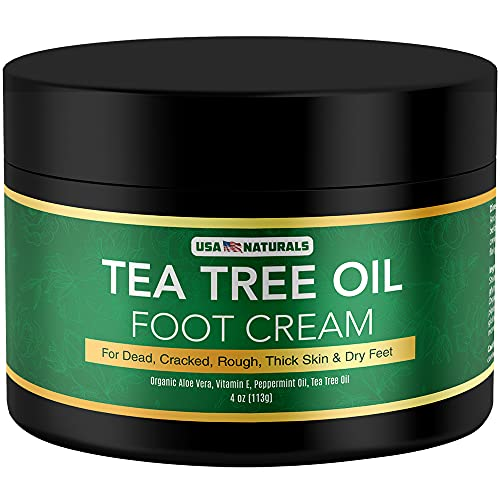Tea Tree Oil Foot Cream - Instantly Hydrates and...