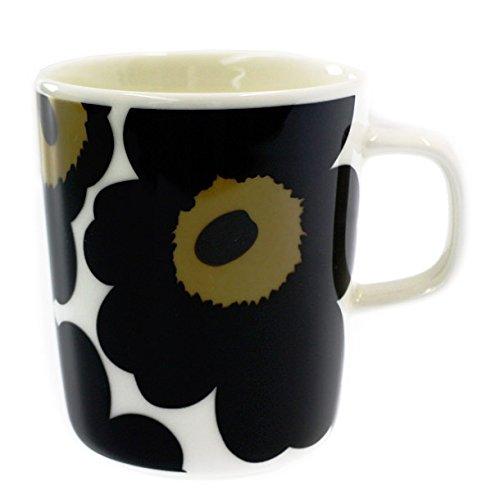 MARIMEKKO マグカップ 063431-030 UNIKKO ウニッコ ブラック [並行輸入品]