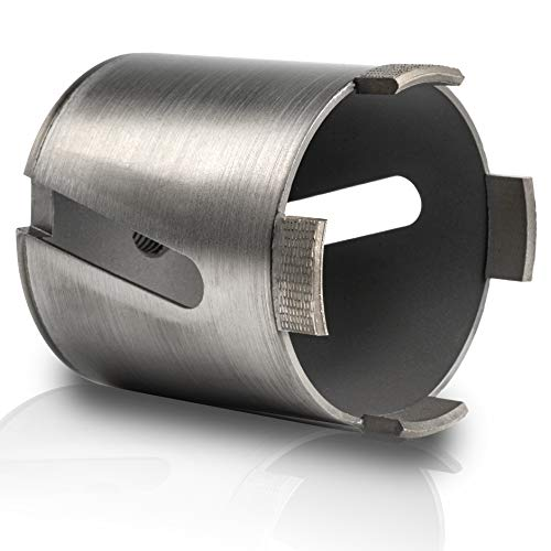 Rendech® Bohrkrone 82mm in Profi Qualität - Dosenbohrer für Beton, Stein, Mauerwerk uvm. Diamant Dosensenker perfekt für Steckdosen