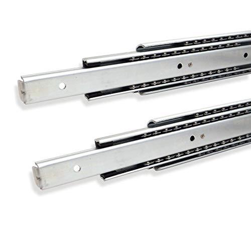 1 par (2 PIEZAS) SO-TECH® Guía para Cajón de Extracción Total 550 mm Capacidad de Carga 80 kg Carril de Cajón
