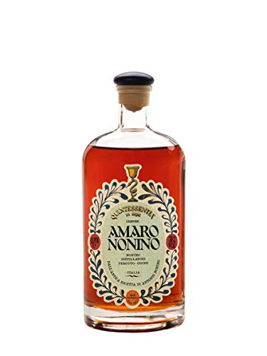 Distillerie Nonino, Amaro Nonino Quintessentia, Liquore d'erbe nobilitato da Acquavite d'Uva invecchiata in barriques - bottiglia in vetro da 700 ml