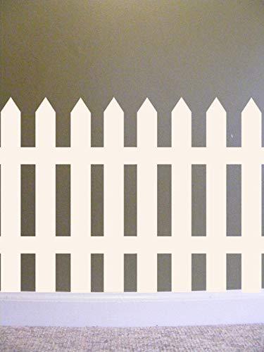 Yilooom Picket Fence Vinyl Wall Decal, Fence Wall Decal, Classroom Wall Decal, Teacher Decals, Preschool, Elementary School Wall Decorations Teacher 12 Inch in Width