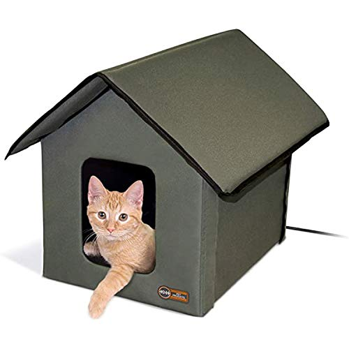 K&H Pet Products Outdoor Heated Kitty House Cat...