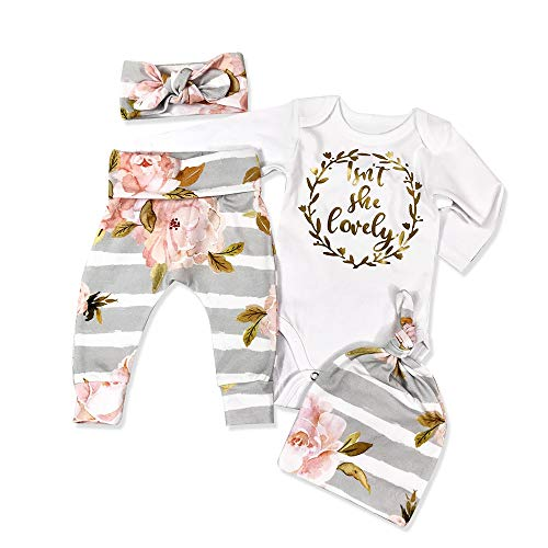 Newborn Baby Girl Clothes Outfits Infant Ruffle Romper Pants Cute...