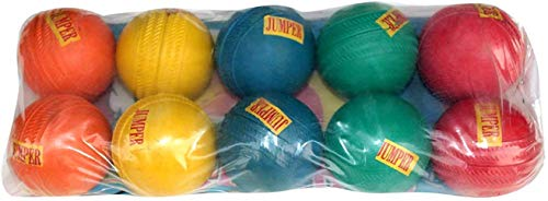 REDOX Jumper Rubber Cricket Ball (Multicolor) Pack of 10