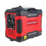 Matrix Générateur électrique Inverter à essence silencieux 4 temps 2000 W pour camping et garage