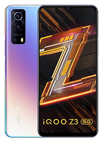 iQOO Z3 5G (Cyber Blue, 8GB RAM, 128GB Storage)   India's First SD 768G 5G Processor   55W FlashCharge   Upto 9 Months No Cost EMI   6 Months Free Screen Replacement