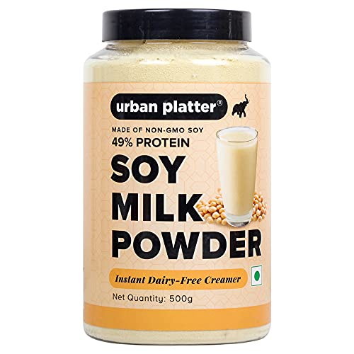 Urban Platter SOYA Milk Powder, 500g [Perfectly Plant-Based, Non-GMO & 49% Protein]