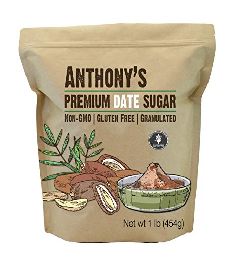 Anthony's Date Sugar, 1 lb, Gluten Free, Non GMO, Vegan, Granulated