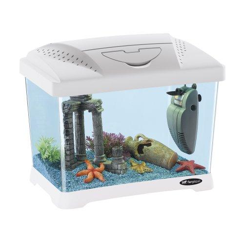 Ferplast Capri Junior Acquario in plastica 41 x 26,5 x h 34 cm - 21 L Colore: Bianco