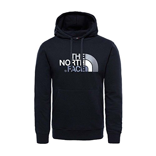 The North Face M Drew Peak Plv HD, Felpa con Cappuccio Uomo, 100% cotone, Nero (TNF Black), S