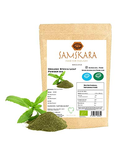 Estevia en Polvo natural molida pura   Stevia de cultivo Eco