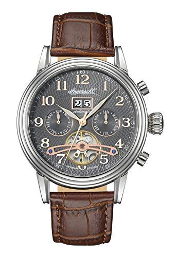Ingersoll Herren Analog Automatik Uhr mit Leder Armband IN2001GU