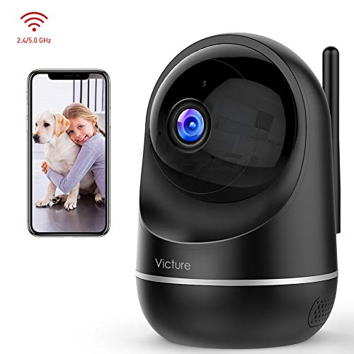 Victure Dualband 2.4Ghz /5Ghz WiFi Camera Home Camera,1080P Security Pet Camera Baby Monitor with Two-Way Audio,Motion Detection