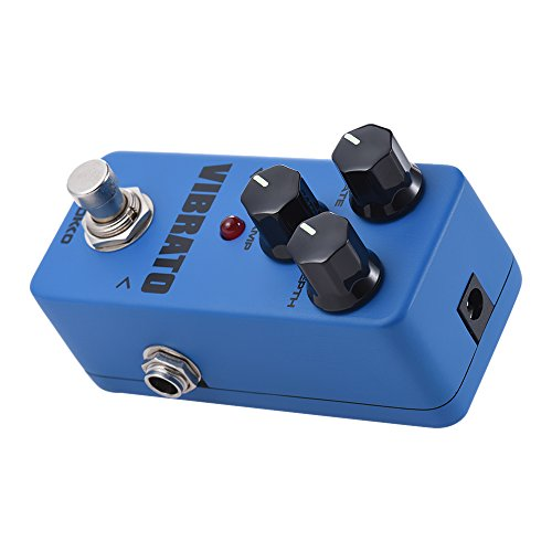 Muslady Vibrato Mini Tremolo Electric Guitar Effect Pedal True Bypass Full Metal Shell